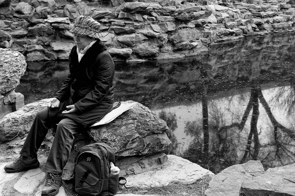 Meditation. Leica X2, f/4 at 1/60s, ISO 100 (25% crop)