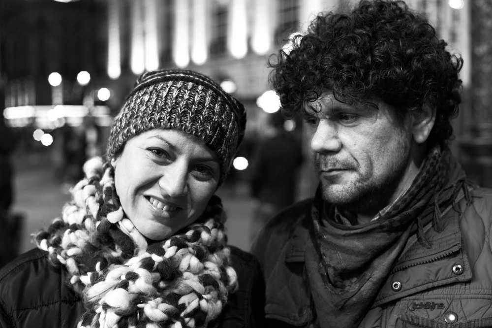 Tourists on the town at the foot of Eros, Piccadilly Circus. 35mm 'Lux FLE, f/2.8 at 1/125s, 800 ISO
