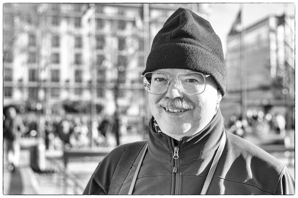 Forum member Chuck Albertson came all the way from Seattle to join our London walkabout (Photo Mike Evans)