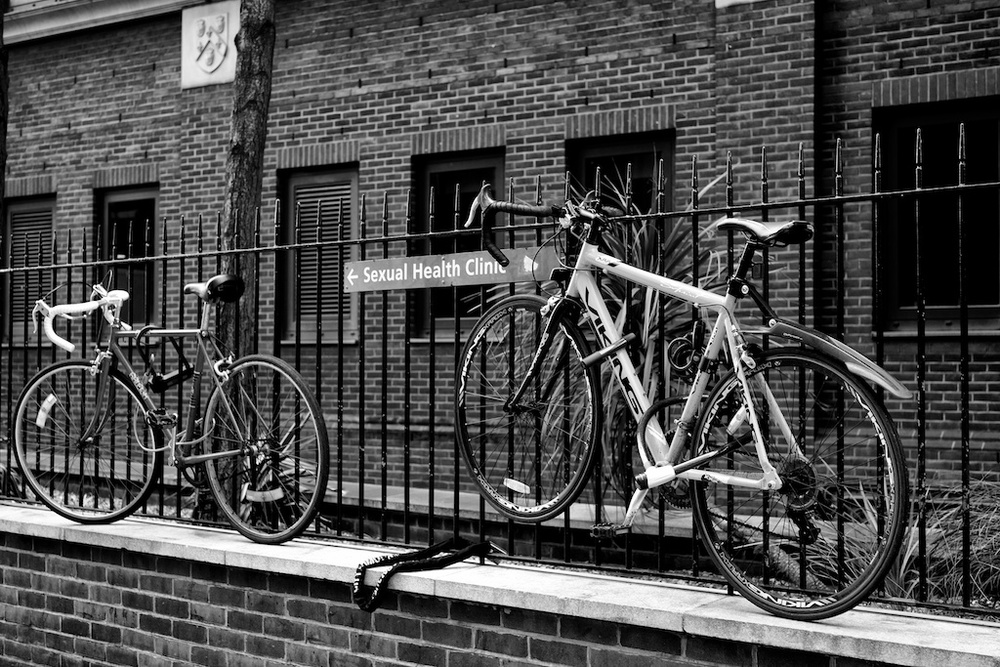 Abandon hope, all ye who enter here. These frisky bicycles are raring to go despite the risks (photo Mike Evans)
