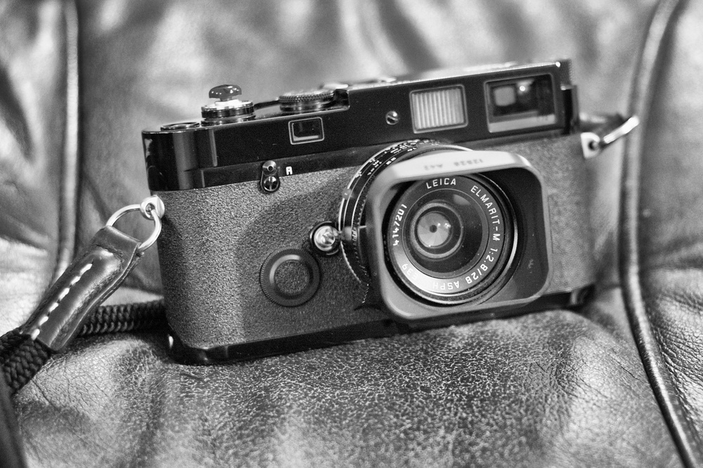 The Leica MP, this is a 2004 version, is still a current film camera and is considered to be the epitome of Leica's film range. As used by Erik Kim for all his street photography.