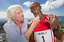 Richard Branson and Usain Bolt in Virgin's push to faster Broadband