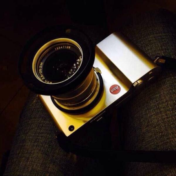 The new Leica T wearing what appears to be a Zeiss manual-focus M-mount lens. Photo by Jeff Curtner on Leica Rumors.