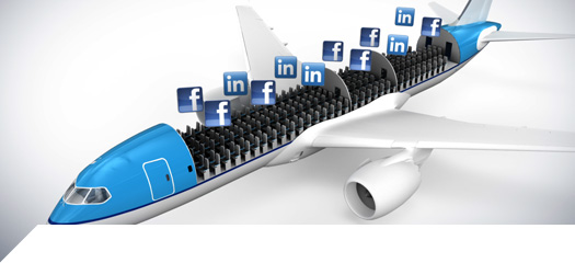 Facebook, LinkedIn or Google+ user and you are fair game when you venture abroad with KLM
