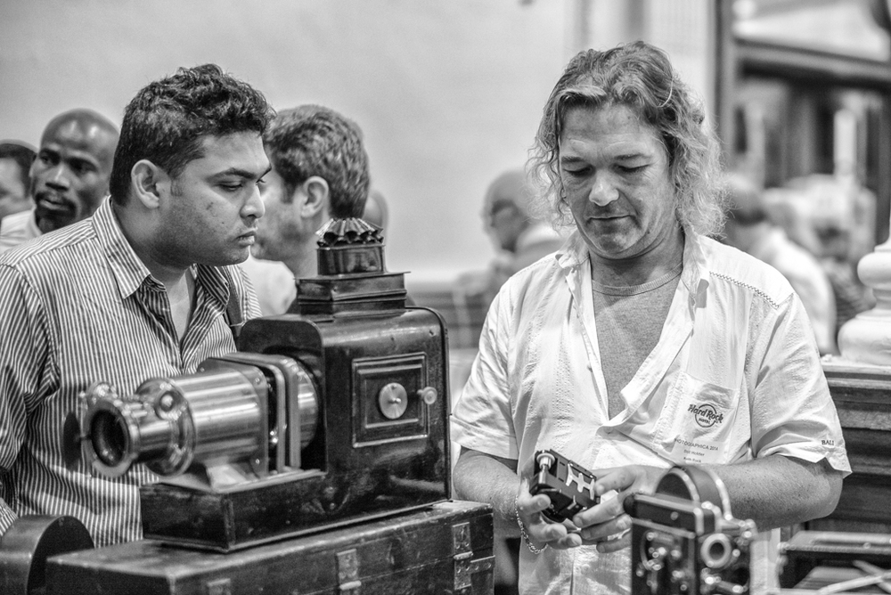 It just gets curiouser and curiouser―is there is no limit to the appeal of old photographic gear? The eponymous Mr. Rock (right) of RockyCameras.com