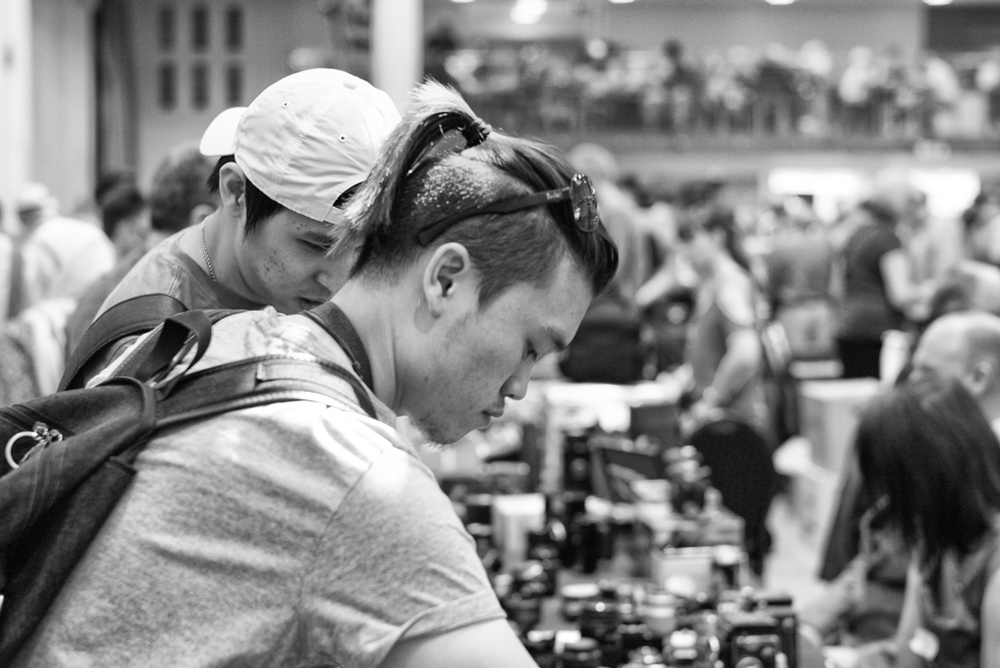 Vintage camera fairs tend to attract vintage buyers, but there is huge interest among younger enthusiasts, especially from Asia where film cameras are enjoying a tremendous revival as an antidote to digital excess