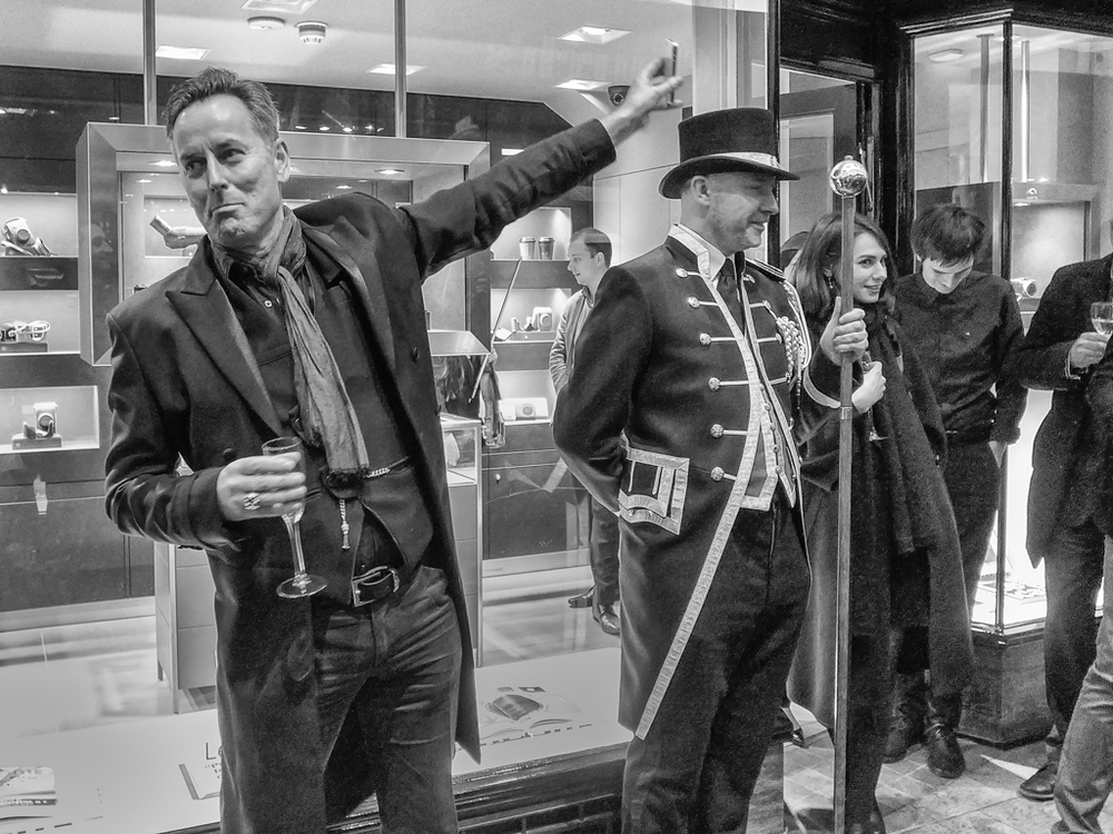 David Bell, Leica UK's managing director, opening his new store in the Burlington Arcade, London. Shot at ISO 400