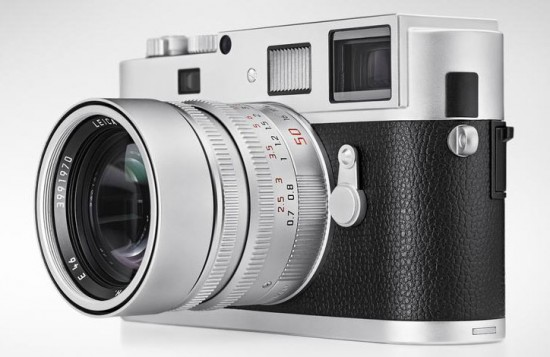 The new silver-chrome Leica Monochrom with its matching 50mm Summilux lens—all for £9,200, including VAT