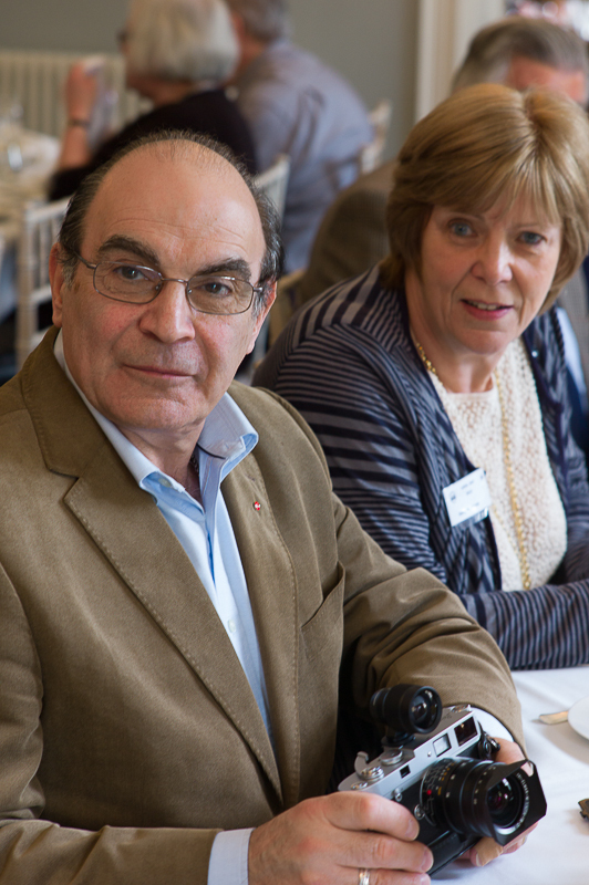 David Suchet with the MP at a Leica Society meeting at Bath in 2013. Photography by Bill Allsopp of the Leica Society