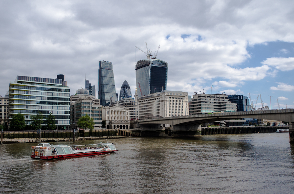 Leica Vario-Elmar-T at 28mm (equivalent) and f/3.5, Things don't get any wider or faster than this with the 18-56 Vario-Elmar-T. (London Bridge with the Walkie Talkie building prominent on the City skyline).
