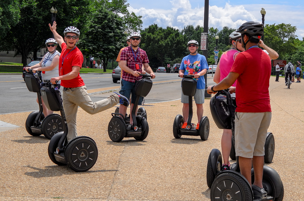 Oopla on a Segway. Next time I visit DC I am determined to go on one of these two-hour tours by Segway. Not sure if I'm up for the Tai Chi, though