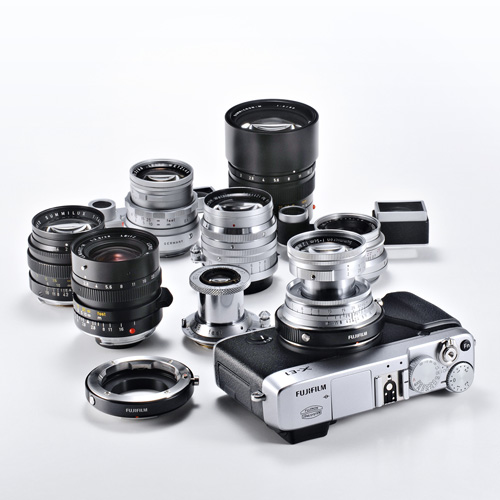 An APS-C sensor camera such as the Fuji X-E1 can be used with a wide variety of legacy M-mount lenses from a number of manufacturers including Leica, Zeiss and Voigtländer. Photo: Fujifilm