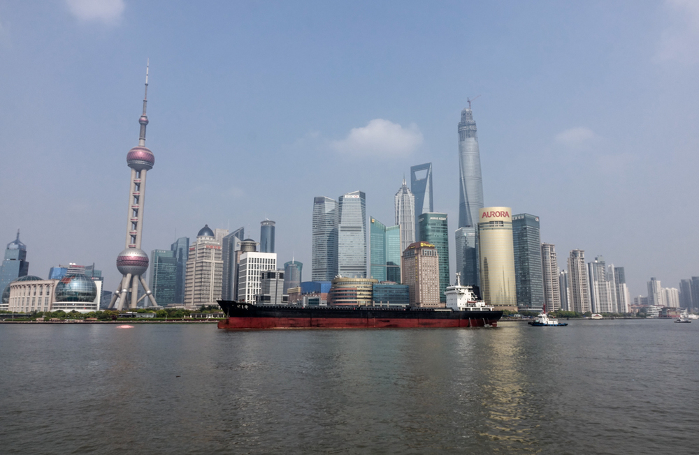 Pudong skyline seen from the Bund