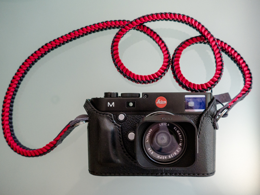 A brand new Leica M is now easier to own as a result of the new part-exchange programme which includes both film and digital M models up to the M9. A number of readers have asked about the accessories in this photograph. The half-case is by Arte di Mano of Korea and the neck strap is a Yin-Yangdesign from Barton1972