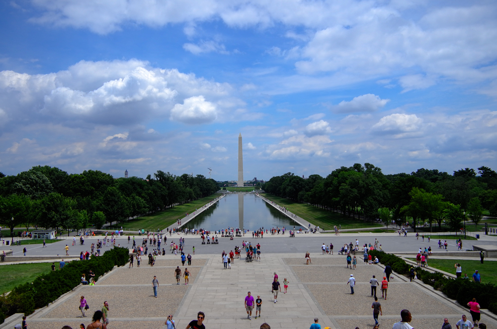 View from the top step of  the Lincoln Memorial, 27mm, ISO 100