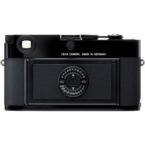 What, no screen! A stripped down M with just three settings, aperture, speed and ISO, is not as daft as it sounds. It could appeal to the purist, to someone who hankers after the simplicity of film but can't be bothered with the hassle of processing. Here is the back of the current Leica MP