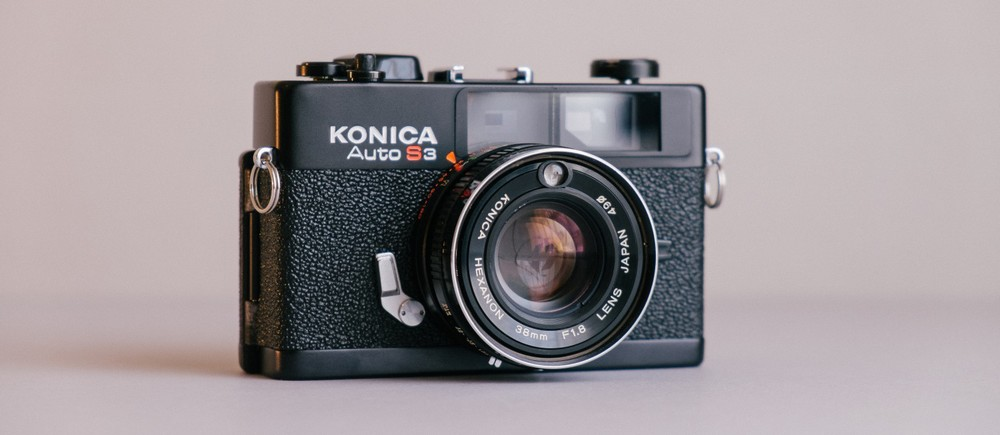 First Frankencamera, a converted Konica Auto S3