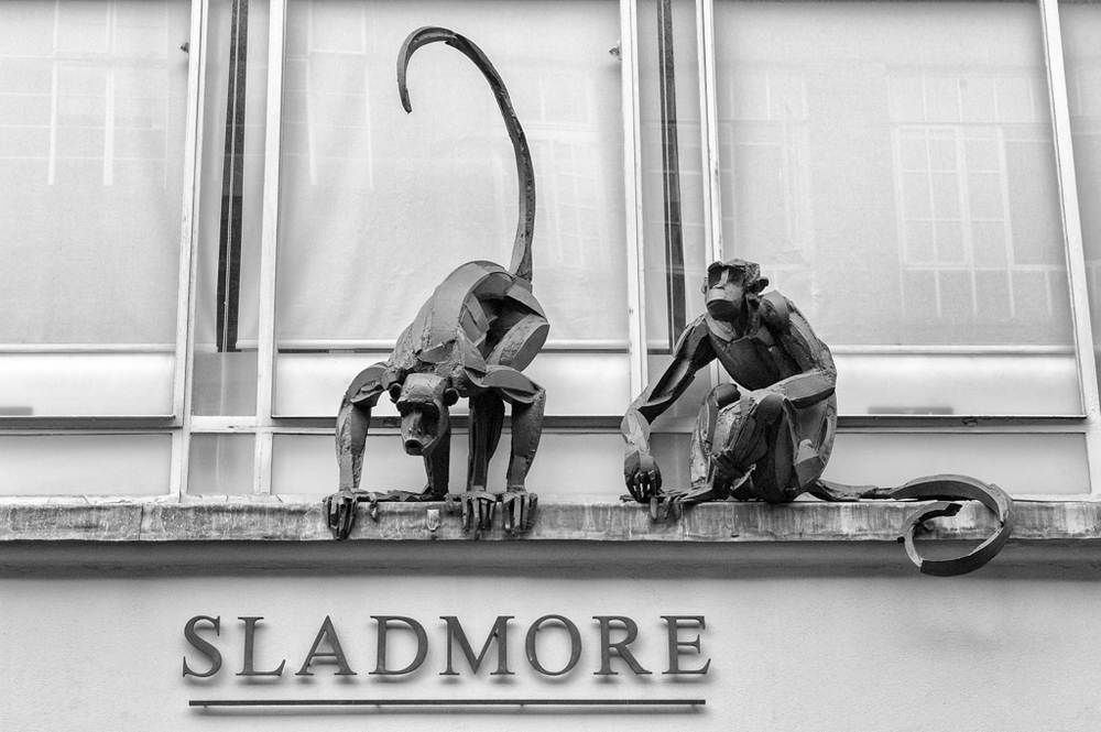 Monkey business next door to Leica Mayfair in London's Bruton Place