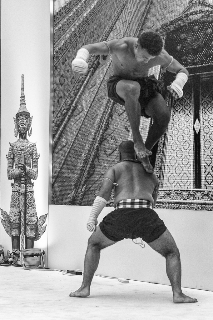 Thai martial arts with the Leica Monochrom and 50mm Summilux. Above and below, f/2.8 at 1/3000s, ISO 1250. Note the film-like grain