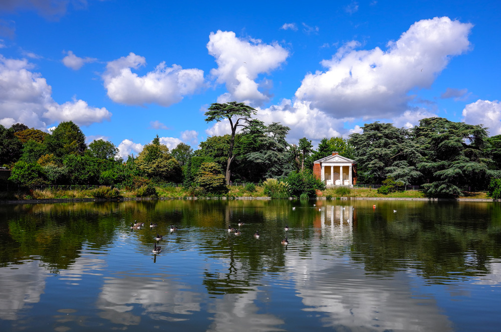 Beautiful colours: The X Vario is at its best capturing scenery such as this (in Gunnersbury Park, west London). Taken at f/5.6, 27mm wide angle