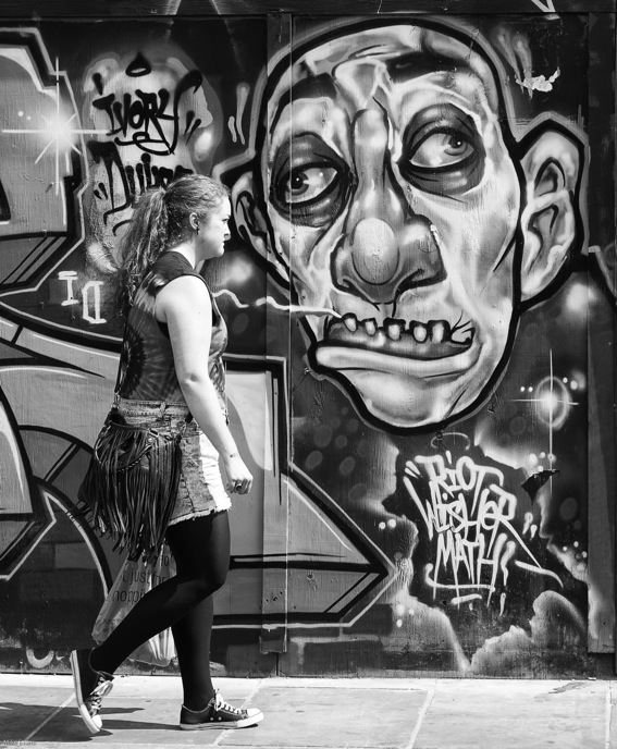 Street Art in Brick Lane: Photo Mike Evans, Leica Monochrom and 50mm Summicron