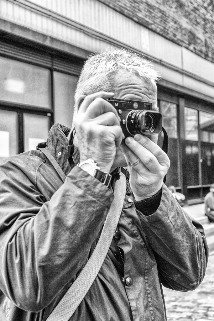 Bob Rhodes gives the M camera a thorough test run during Satuday's outing