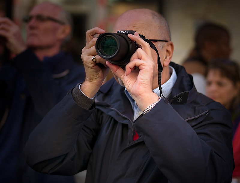 Macfilos at work behind the Leica V-Lux (Photograph by George James, Leica M-P)