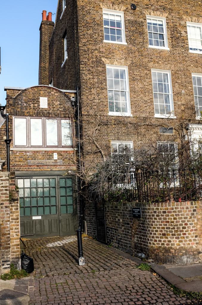 In the garden of this riverside house in Hammersmith, West London, the world's first telegraph, using eight miles of cable encased in glass insulation, was constructed by Sir Francis Ronalds in 1816.