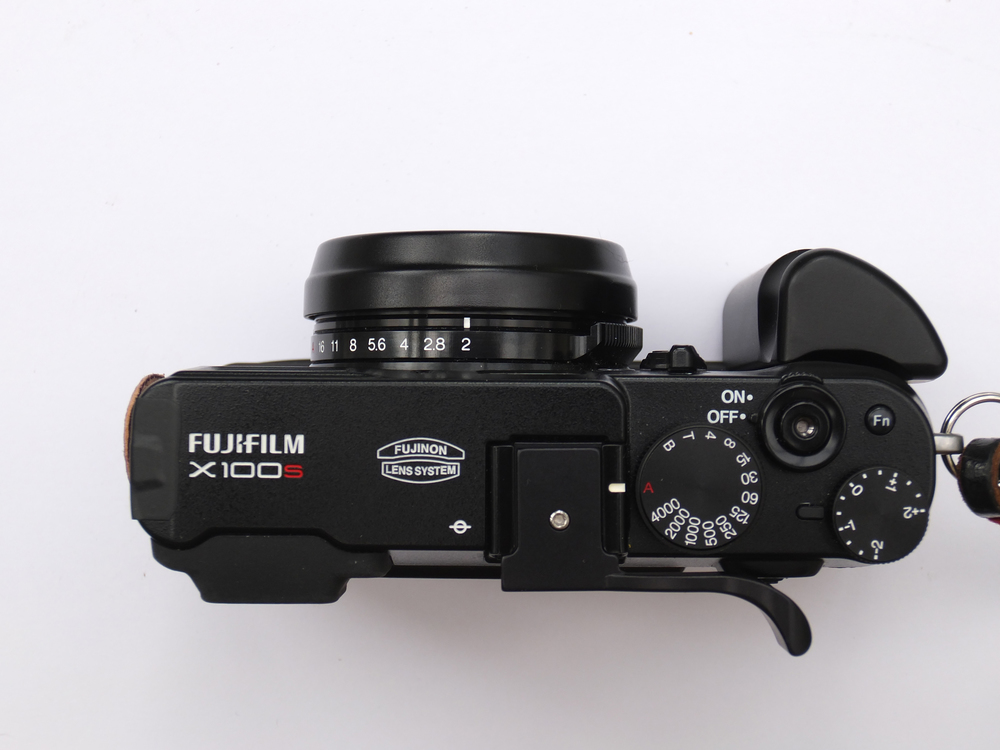 X100S with both front grip and thumb grip added (Bill Palmer)