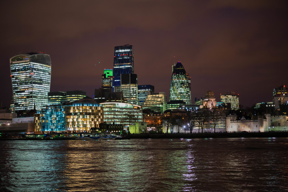Old and the new: City of London's newly impressive skyline with the 1,000-year-old Tower of London to the right, nestling next to Tower Bridge. Shot at a slothful 1/13s, handheld, at ISO 800, taking full advantage of the Sony's three-axis(1) in-body stabilisation