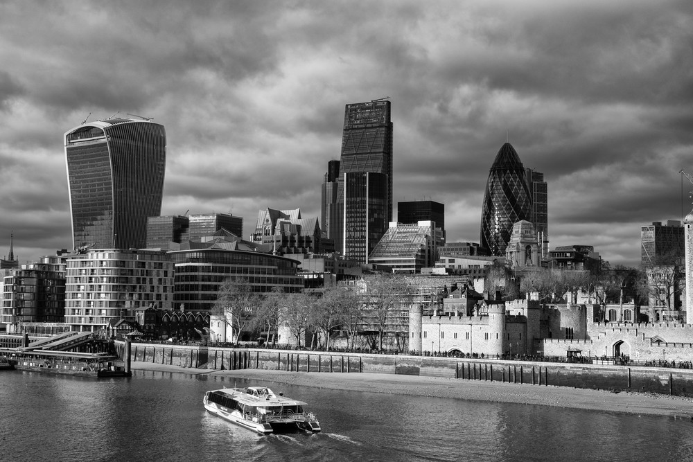 City of London from the Walkie-Talkie to the Tower: Sony A7II, ~f/5.6, 1/250s, ISO 100. Click for full-size image