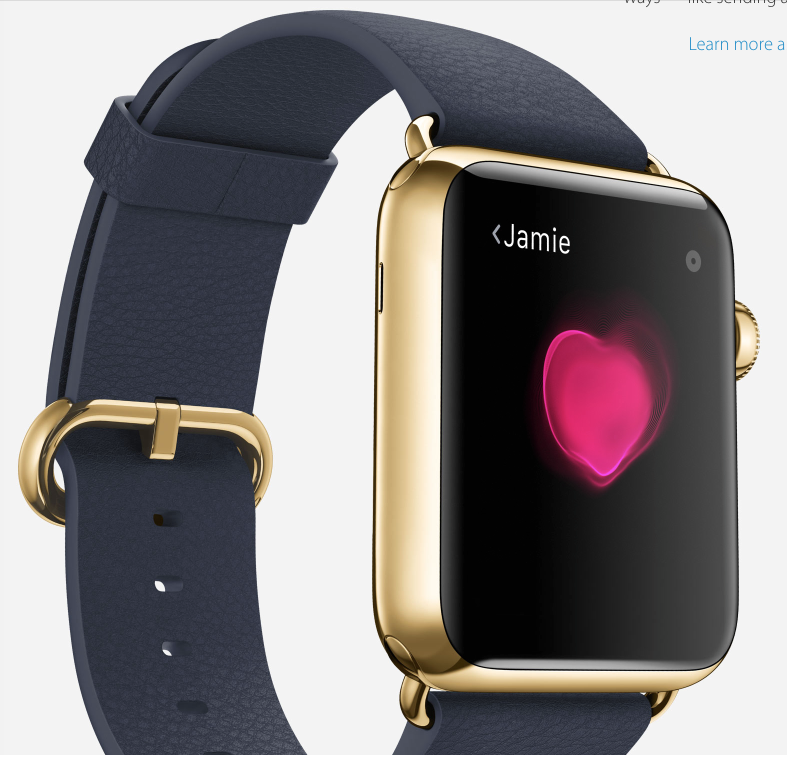 Jamie is not only rich, with his Apple Watch Edition, but has a beating heart to boot. What more could your heart desire? You can even send your heartbeat to your beloved