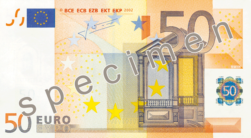 "To protect national sensibilities, the euro currency uses no language known to man except for the androgenous ""euro"" and a meaningless jumble of initials to represent the European Central Bank. They can't even get the initials in any consistent order. However, in a doom-laden nod to Greece, the notes do carry the Greek version of the currency's name ""ΕΥΡΩ"", pronounced evró"