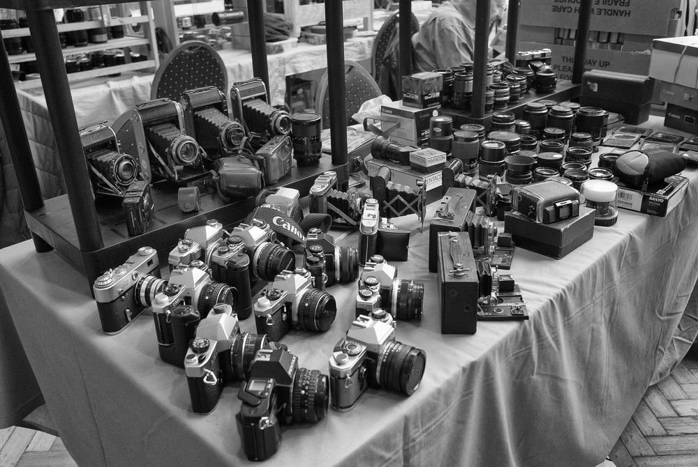 Old film cameras from Canon, Olympus, Praktika and Nikon are still in demand. Prices are low, even for the lenses which, in many cases are still excellent. For film buffs this is paradise