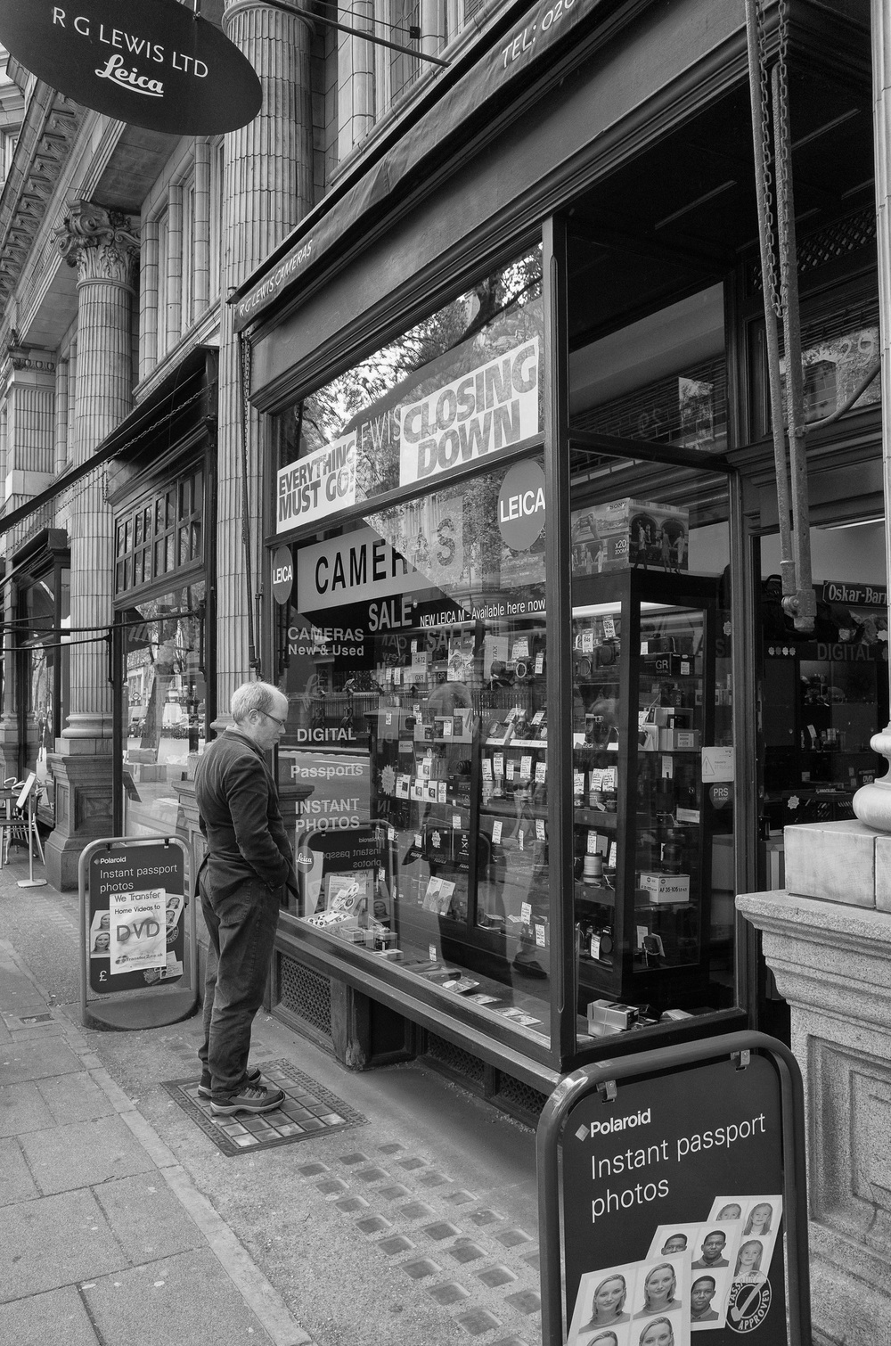 Chance tomorrow for a final look in the window of one of London's oldest photographic retailers