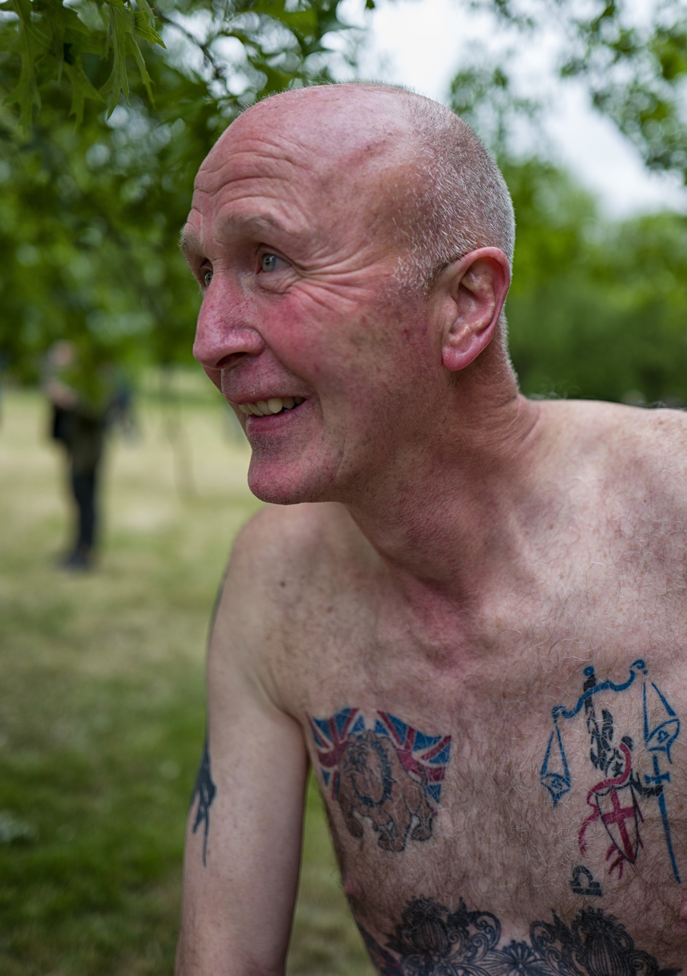 Bulldog spirit, veteran of many naked bike rides
