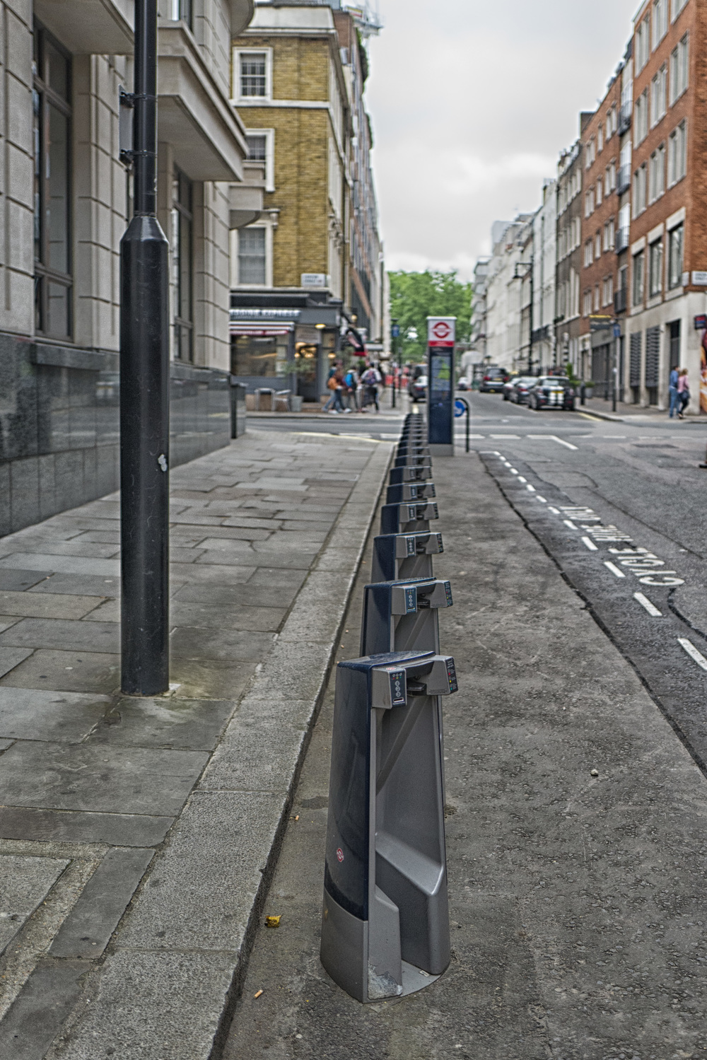 Meanwhile, on the deserted streets of nearby Mayfair, Boris bikes had disappeared. Never has Boris been so booked out.