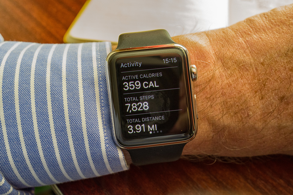 Active calories, total steps, total distance walked: These results are measured against self-selected goals and there is a strong incentive to keep up the action