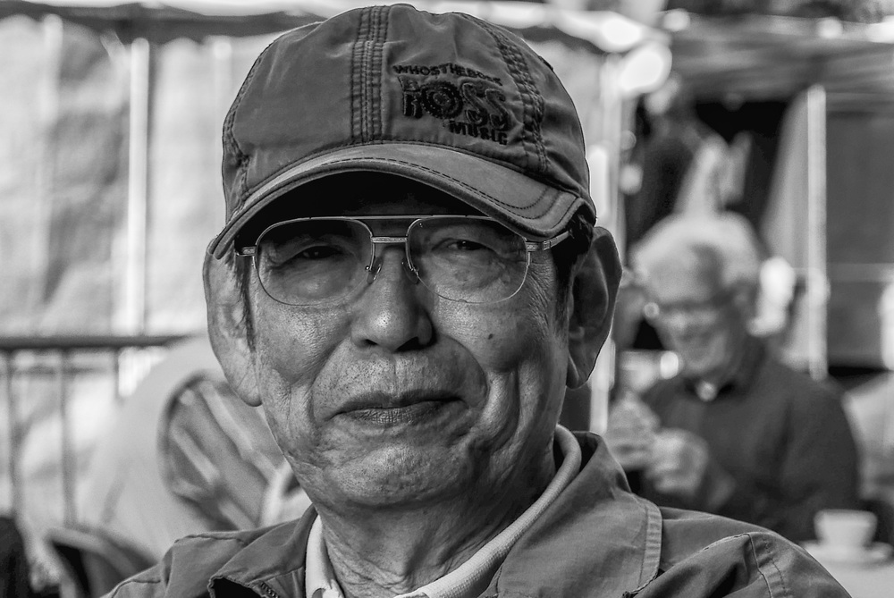 Shinichi Nakamura, noted Japanese Leica collector and author. 75mm, 1/640s @ f/3.2