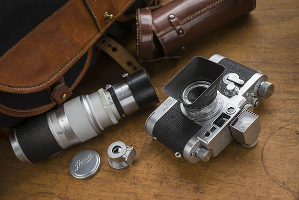 Tom Grills' Leica IIIg outfit and accessories.