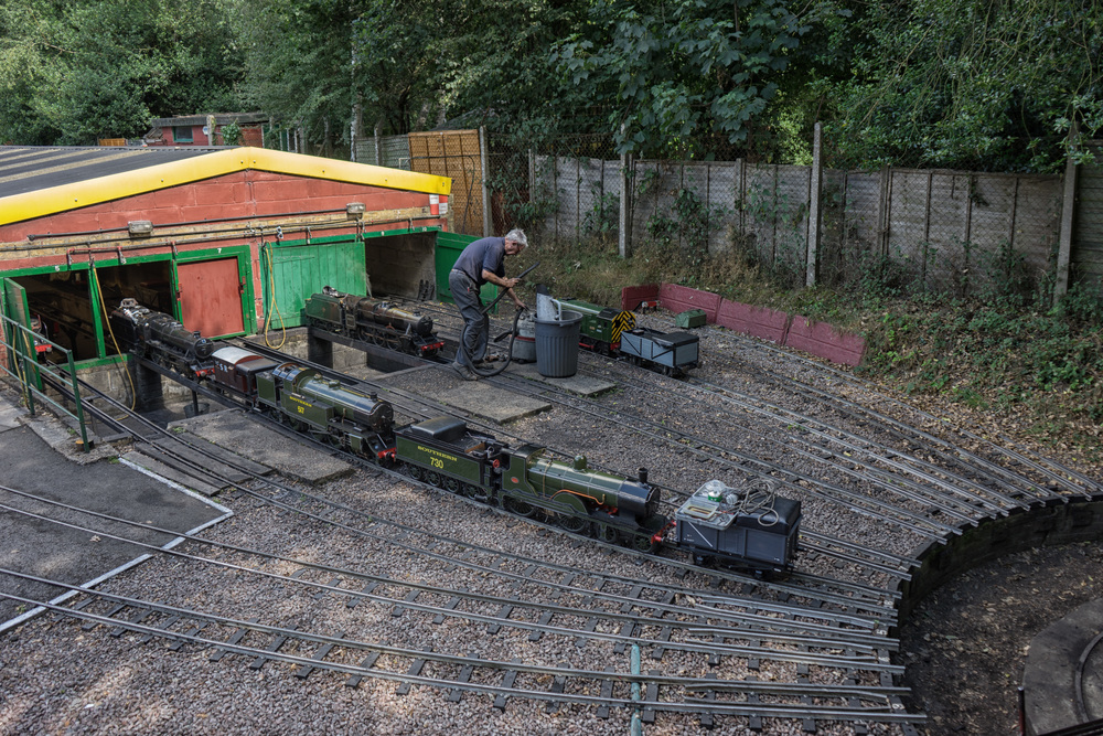 Busy loco shed