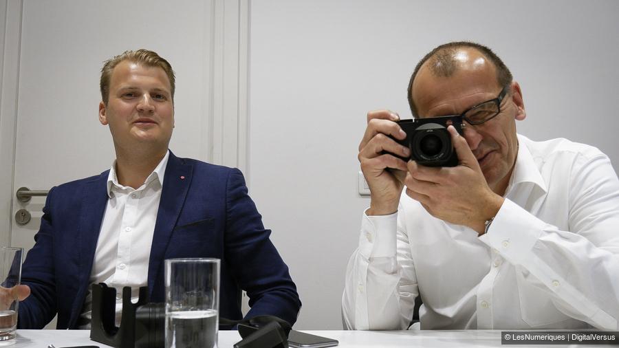 Vincent Laine and Peter Kruchewski with the Leica Q (Image: DigitalVersus)