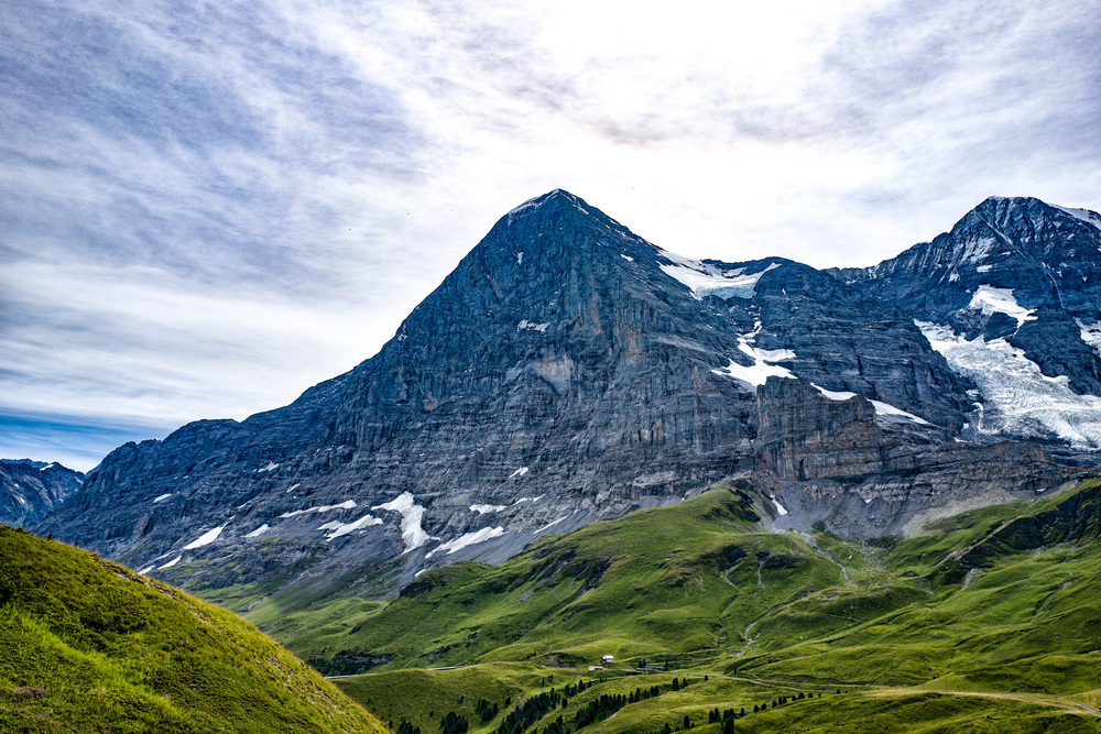 North face of the Eiger near to Kleine Scheidegg, overlooking Grindelwald