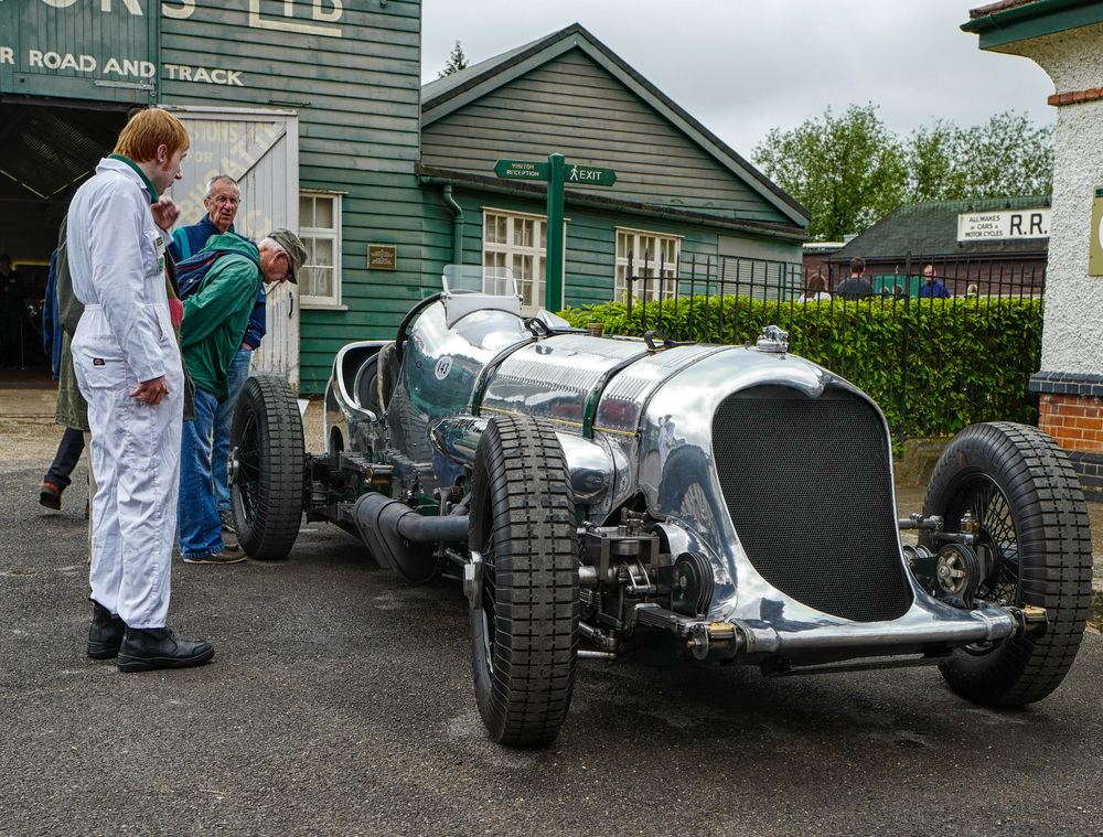 The Napier Railton on one of its rare outings at Brooklands Museum. Photo Mike Evans
