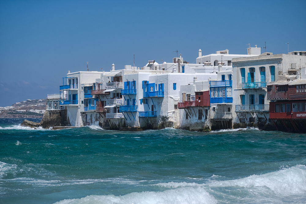 Mikri Venetia, Little Venice, in Mykonos: There's one in London, too, but it doesn't look like this