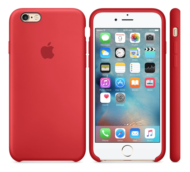Apple's simple silicone back case retains the slim profile of the phone while providing impressive protection