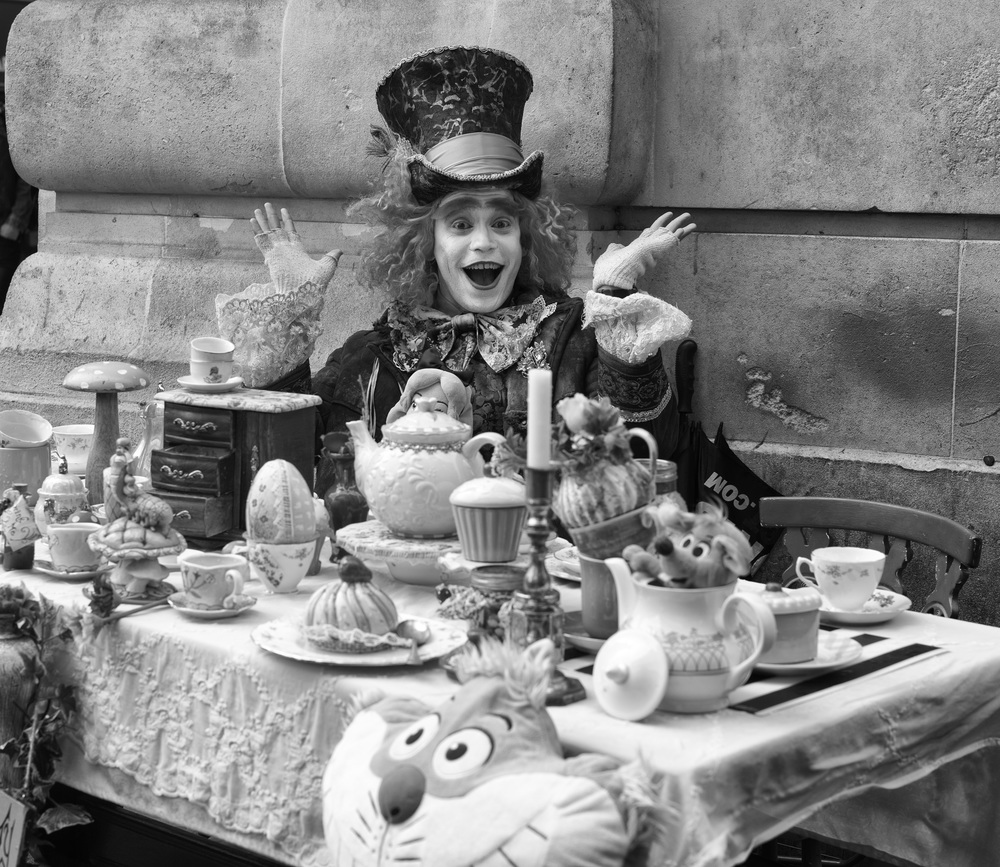 Mad Hatter and his Tea Party at Piccadilly Circus today. Leica Monochrom 246 and 50mm Apo-Summicron