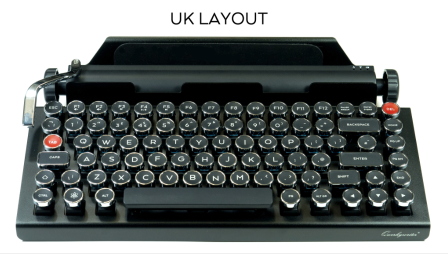 The Qwerkywriter can be ordered with a British keyboard, thus enabling one to type aluminium correctly. It still costs $329, though.