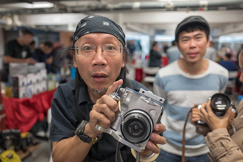 The irrepressible Tom Chung, featured yesterday, is the author of a rather fabulous range of steam-punk instant cameras which you can find at Classic Camera Shop in Prince Edward