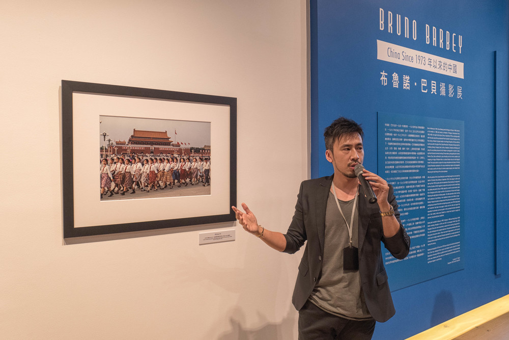 Timm Wong explaining the China years photography of Bruno Barbey